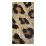 Modelo de la textura de la piel del leopardo tarjetas fotográficas personalizadas