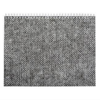 Modelo de la textura de la tela del tweed del gris calendarios