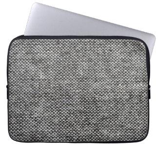 Modelo de la textura de la tela del tweed del gris fundas portátiles