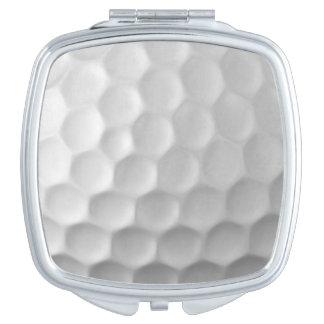 Modelo de la textura de los hoyuelos de la pelota espejos maquillaje