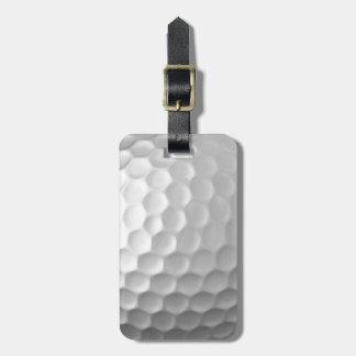Modelo de la textura de los hoyuelos de la pelota etiquetas para maletas