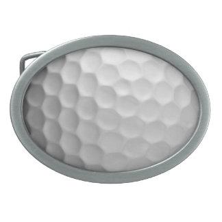 Modelo de la textura de los hoyuelos de la pelota  hebilla de cinturón oval