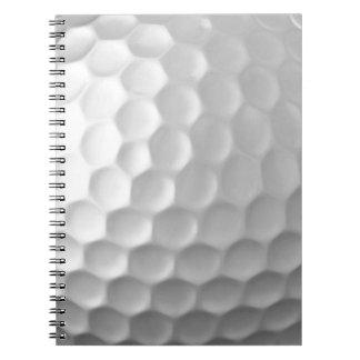 Modelo de la textura de los hoyuelos de la pelota libros de apuntes con espiral
