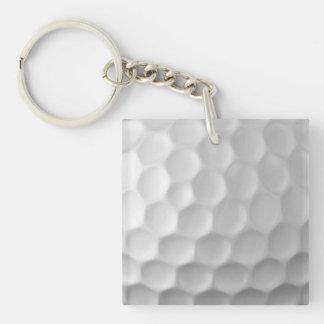 Modelo de la textura de los hoyuelos de la pelota llavero cuadrado acrílico a doble cara