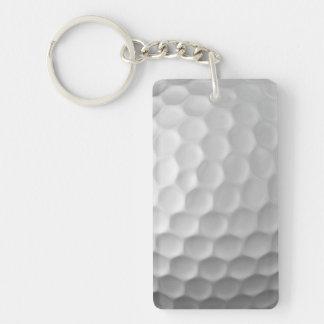 Modelo de la textura de los hoyuelos de la pelota llavero rectangular acrílico a doble cara
