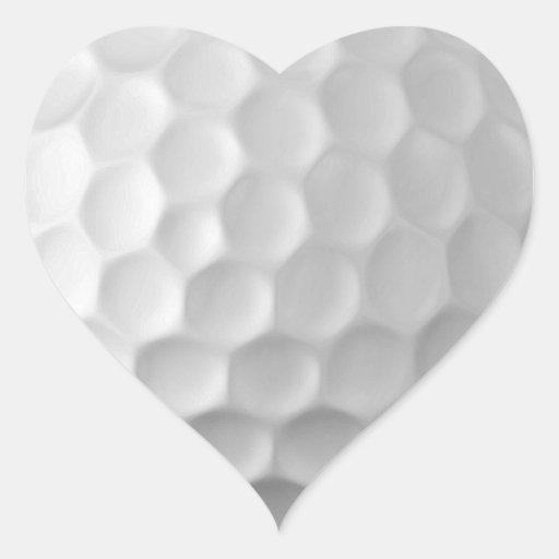 Modelo de la textura de los hoyuelos de la pelota pegatina en forma de corazón