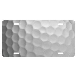 Modelo de la textura de los hoyuelos de la pelota placa de matrícula