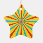 Modelo de la tienda de circo adorno navideño de cerámica en forma de estrella