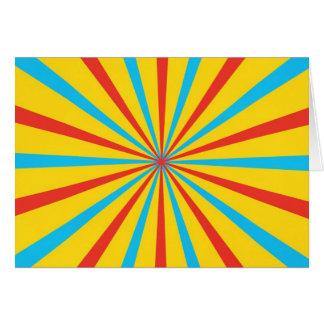 Modelo de la tienda de circo tarjeta de felicitación