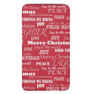 Modelo de la tipografía de las Felices Navidad Funda Acolchada Para Galaxy S5