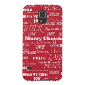 Modelo de la tipografía de las Felices Navidad Funda De Galaxy S5