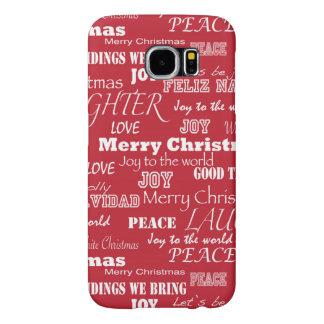 Modelo de la tipografía de las Felices Navidad Fundas Samsung Galaxy S6