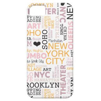 Modelo de la tipografía del texto de New York City iPhone 5 Cárcasa