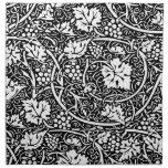 Modelo de la uva del papel pintado floral del vint servilletas de papel