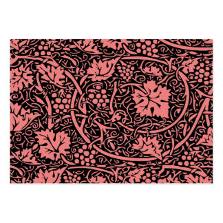 Modelo de la uva del papel pintado floral del vint plantillas de tarjetas personales