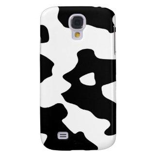 Modelo de la vaca blanco y negro funda para galaxy s4