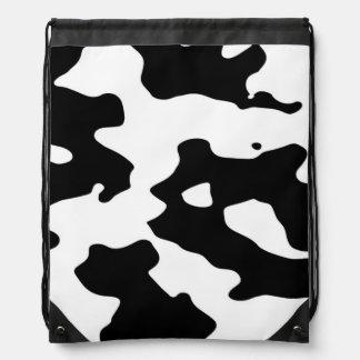 Modelo de la vaca blanco y negro mochila