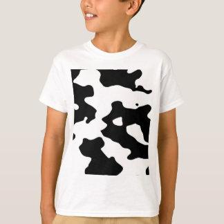 Modelo de la vaca blanco y negro playera