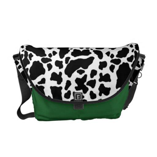 Modelo de la vaca del estampado de animales bolsa de mensajeria