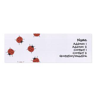 Modelo de Ladybugz Tarjetas De Visita Mini