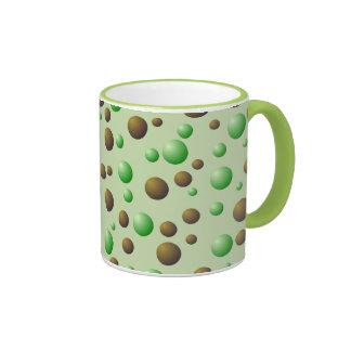 Modelo de las burbujas de la menta y del chocolate tazas de café