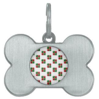 Modelo de las cajas de regalo de Bling del navidad Placas De Nombre De Mascota