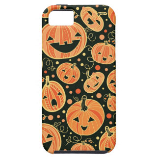 Modelo de las calabazas de Halloween de la diversi iPhone 5 Cárcasa