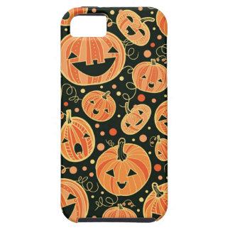 Modelo de las calabazas de Halloween de la iPhone 5 Carcasas