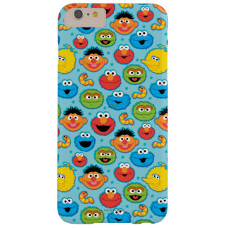 Modelo de las caras del Sesame Street en azul Funda Para iPhone 6 Plus Barely There