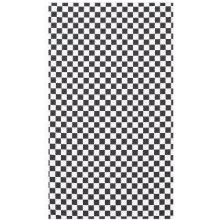 Modelo de las carreras de coches/del ajedrez + su mantel de tela