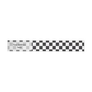 Modelo de las carreras de coches/del ajedrez + su pegatinas postales