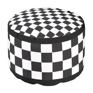 Modelo de las carreras de coches/del ajedrez + su puf redondo