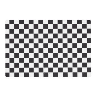 Modelo de las carreras de coches/del ajedrez + su salvamanteles