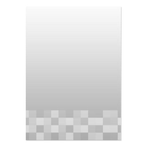Modelo de las casillas blancas grises claras y tarjetas de visita grandes
