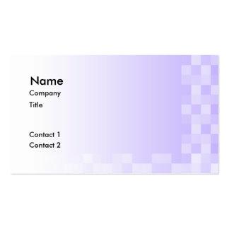 Modelo de las casillas blancas púrpuras y de la tarjetas de visita