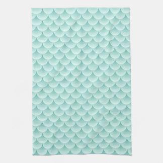 Modelo de las escalas de pescados toallas