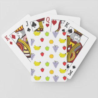 Modelo de las frutas baraja de póquer