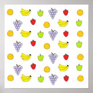 Modelo de las frutas posters