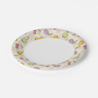 Modelo de las frutas plato de papel de 7 pulgadas