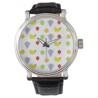 Modelo de las frutas reloj de mano