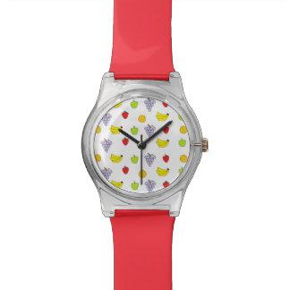 Modelo de las frutas relojes de pulsera