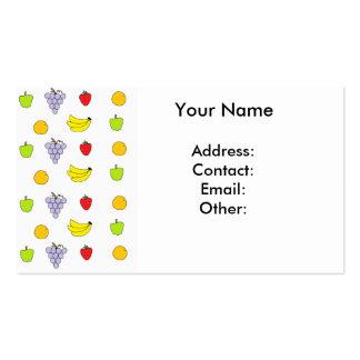 Modelo de las frutas tarjetas de visita
