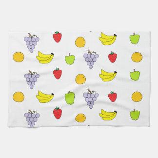 Modelo de las frutas toallas de cocina