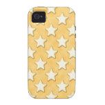 Modelo de las galletas de la estrella. Amarillo de Vibe iPhone 4 Carcasa