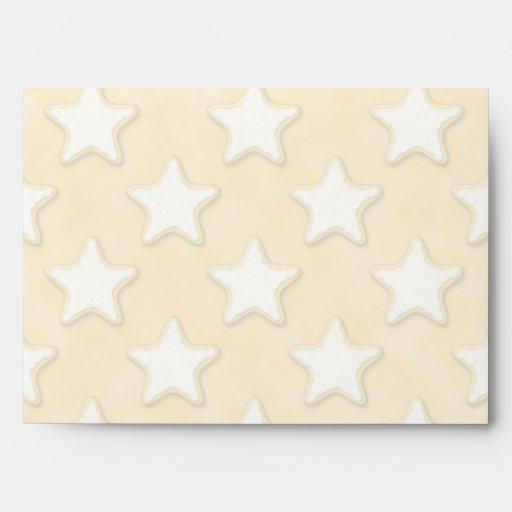 Modelo de las galletas de la estrella. Amarillo de Sobres