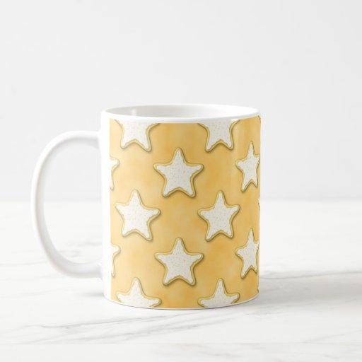 Modelo de las galletas de la estrella. Amarillo de Tazas