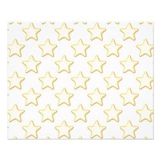 Modelo de las galletas de la estrella. En blanco Tarjetas Informativas