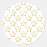 Modelo de las galletas de la estrella. En blanco Etiqueta Redonda