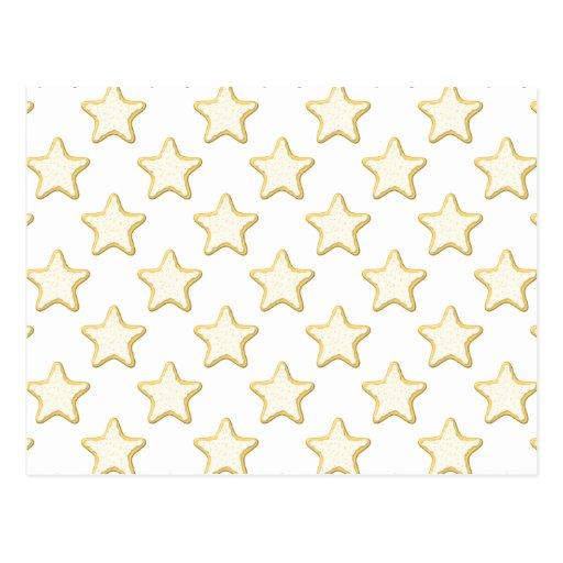 Modelo de las galletas de la estrella. En blanco Postales