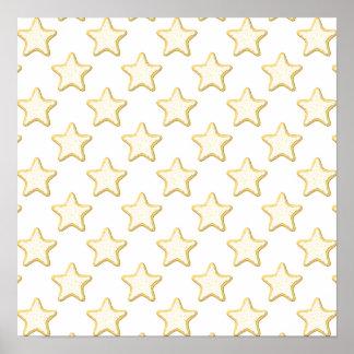 Modelo de las galletas de la estrella. En blanco Póster